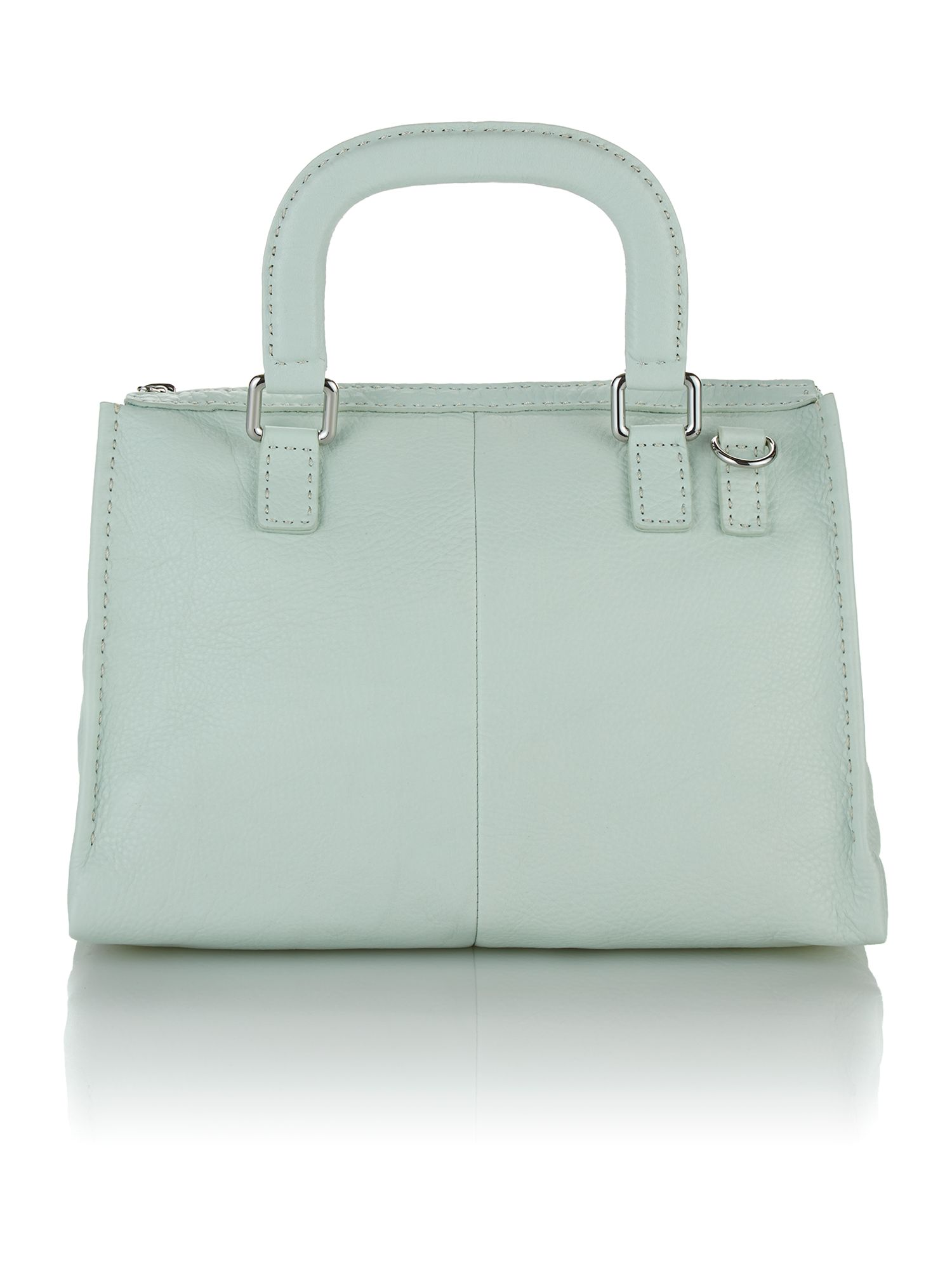 Large green cross body satchel