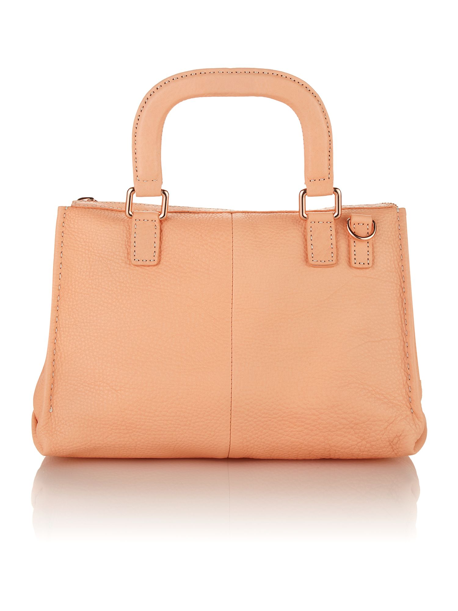 Large orange cross body satchel