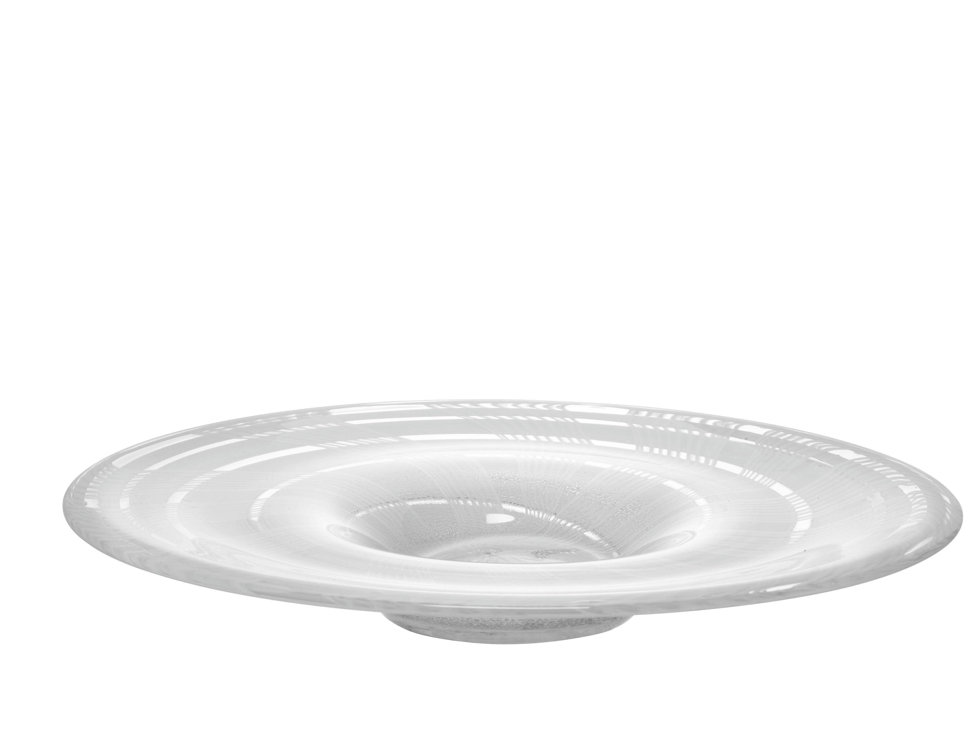 Linen platter height 35cm in white