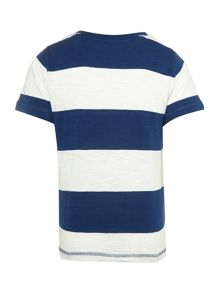 Boy`s stripe slub t-shirt