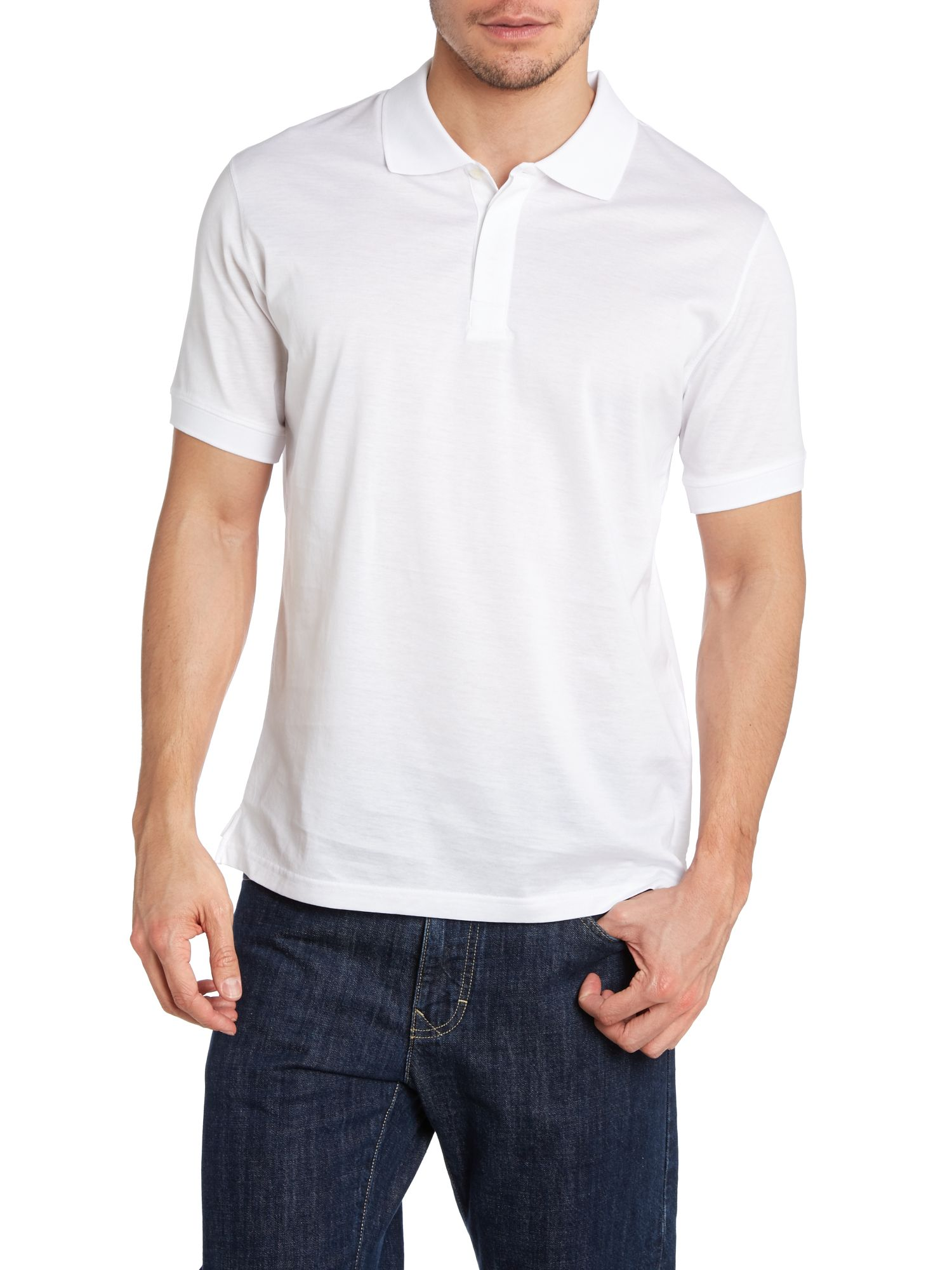 Mercerised cotton polo top