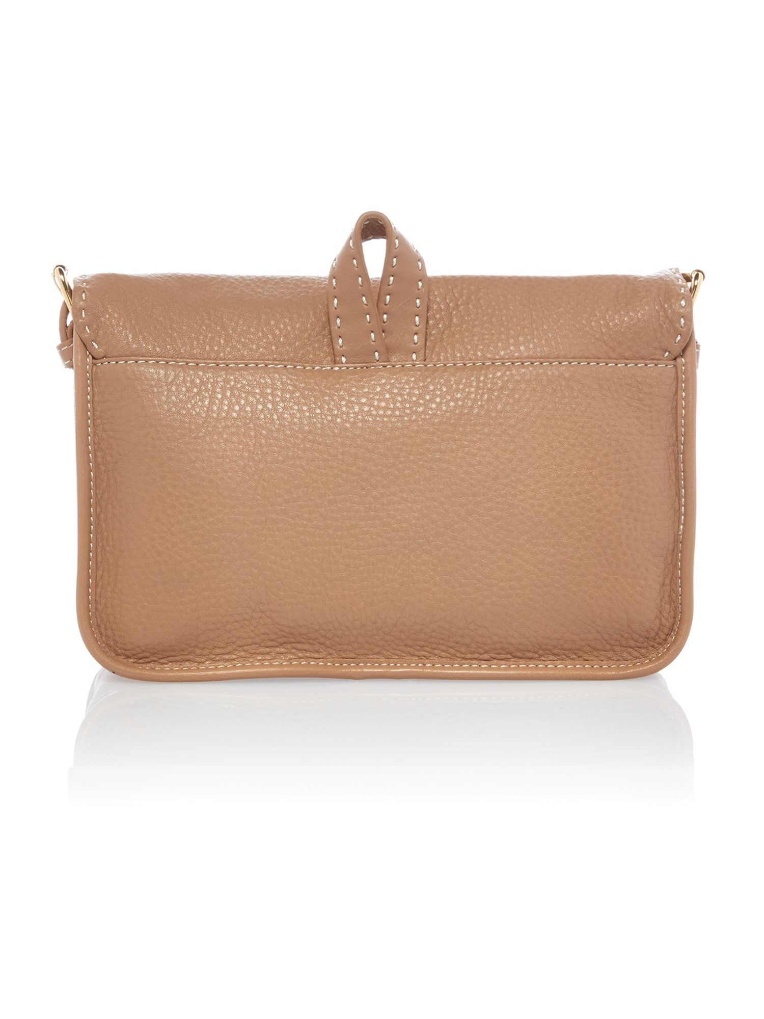 Medium neutral leather cross body bag