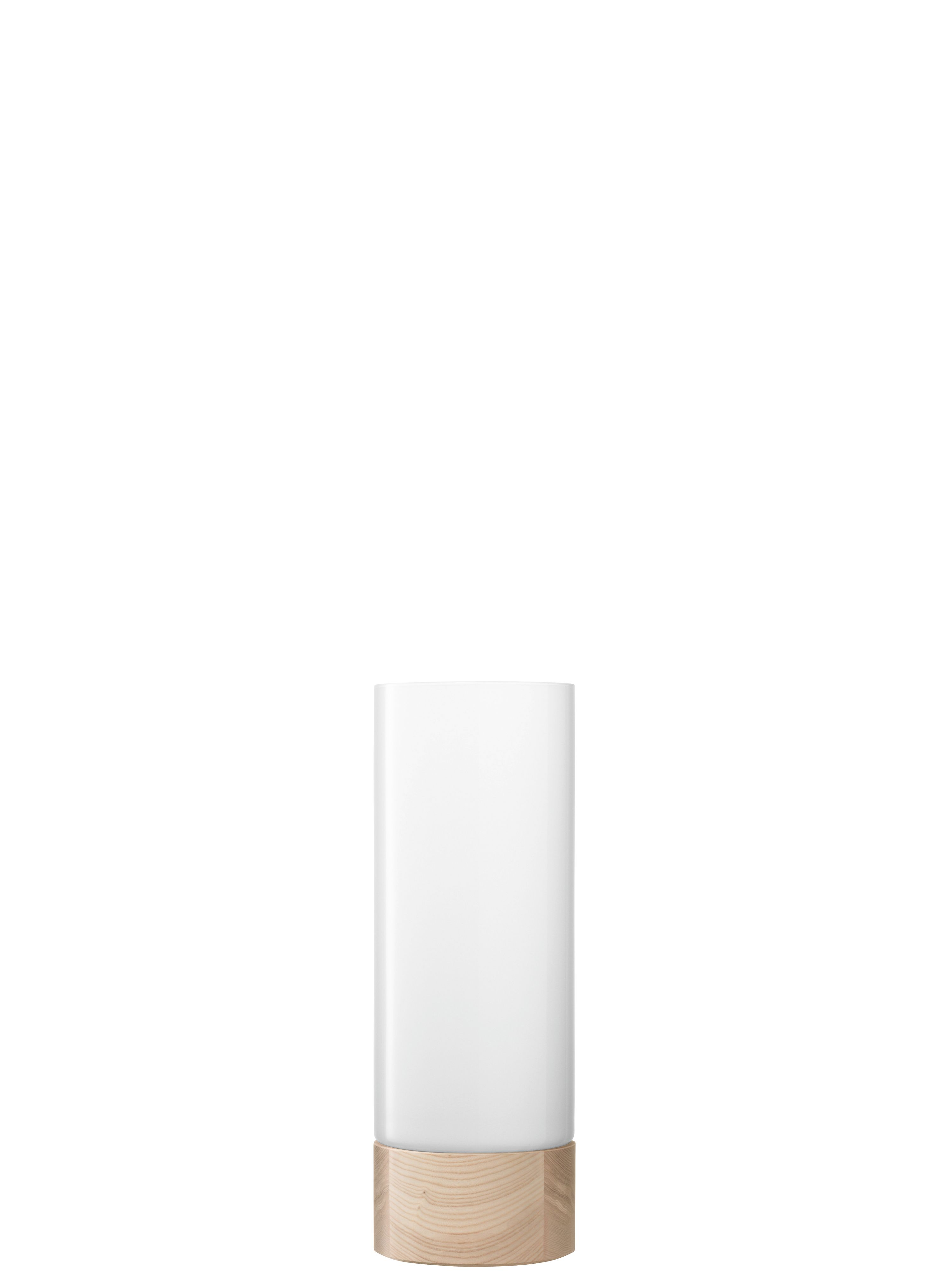 Lotta vase/lantern ash base H62cm in white