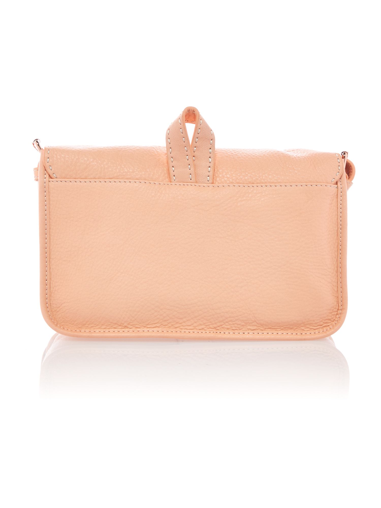 Medium orange leather cross body bag