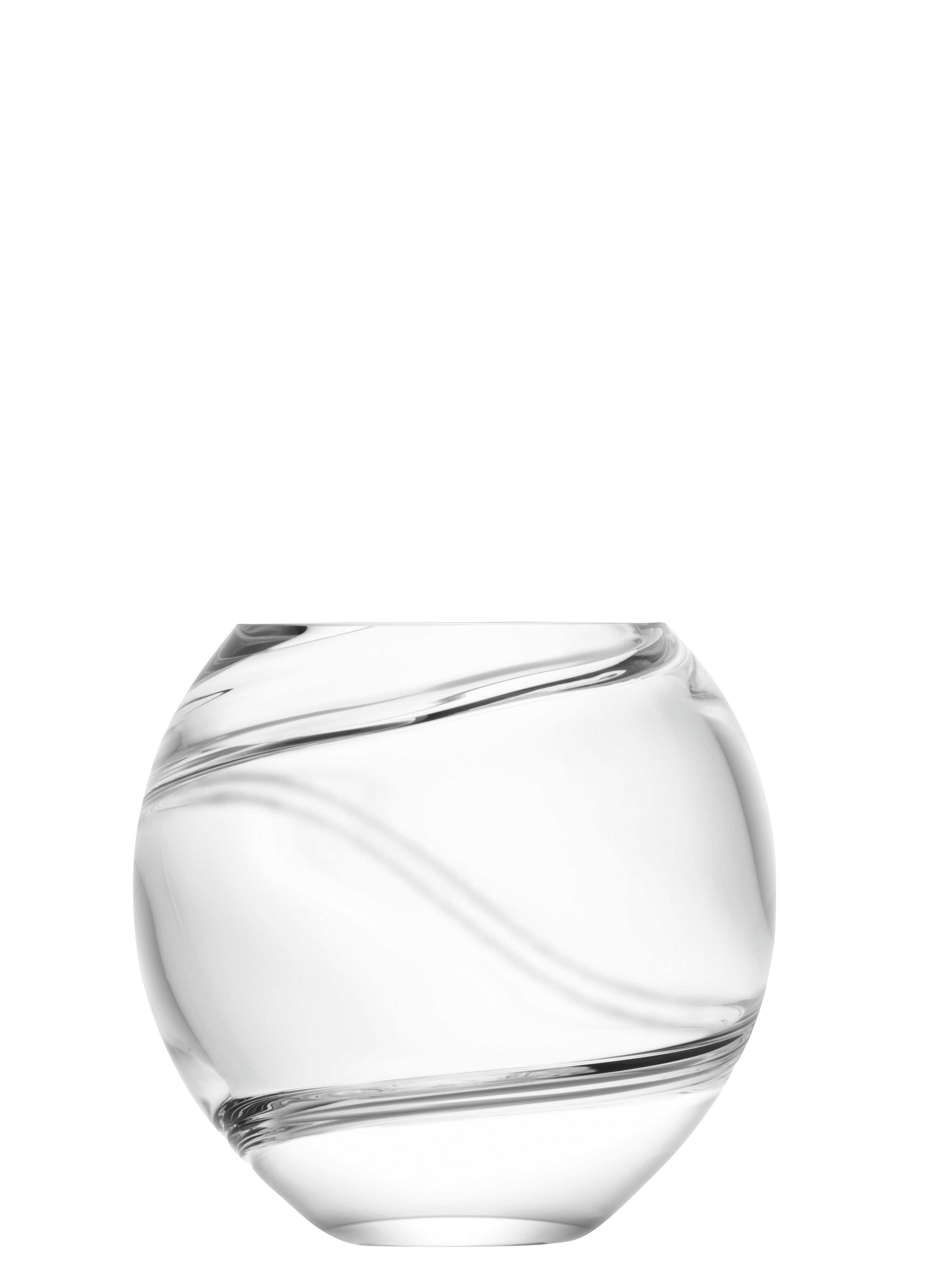 Malika Grand spiral vase height 15.5cm in clear