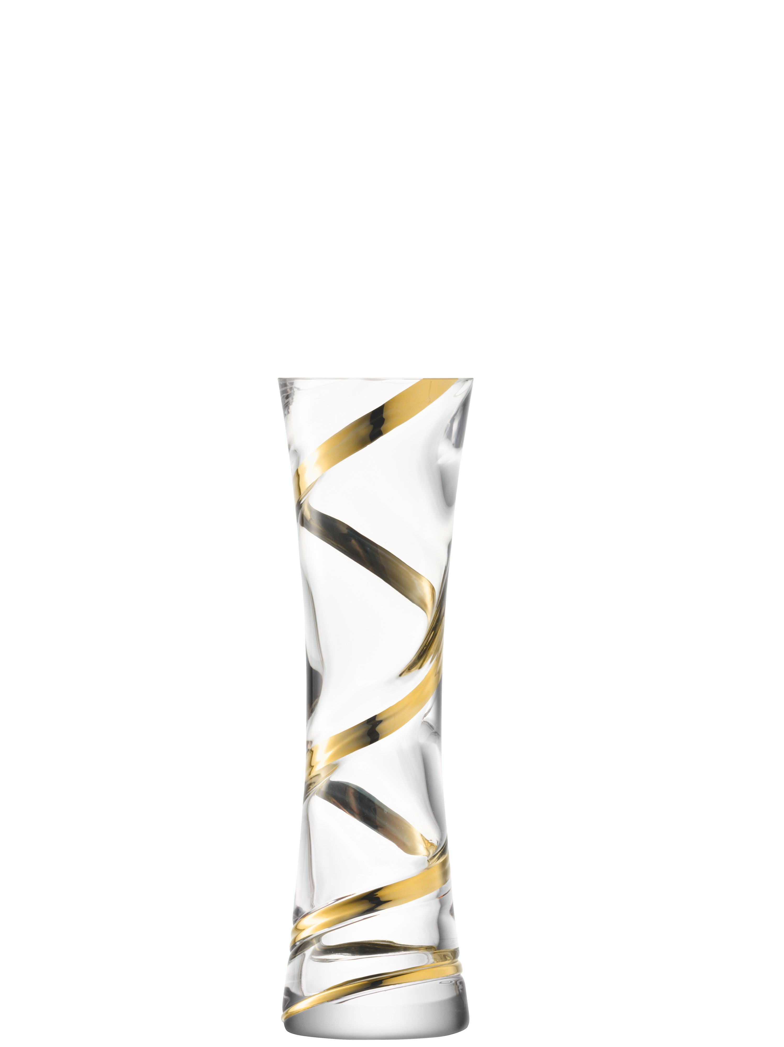 Malika Grand spiral vase height 34cm in gold