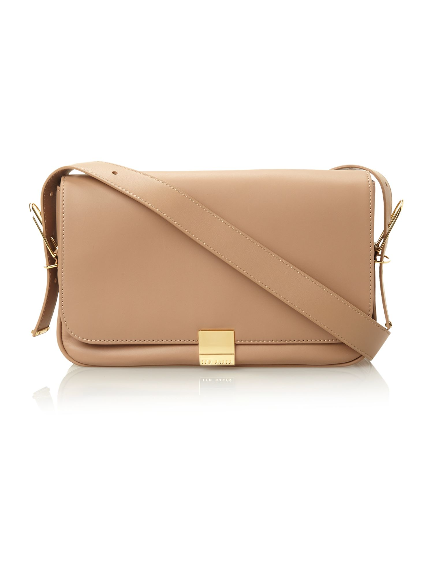 Large nude cross body bag