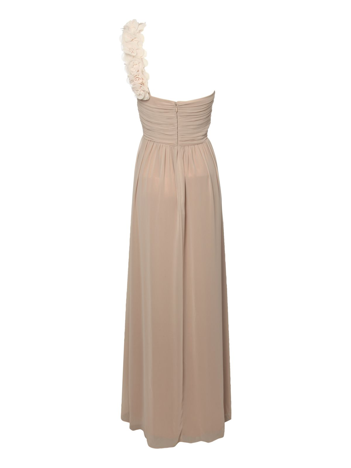 One shoulder corsage maxi dress