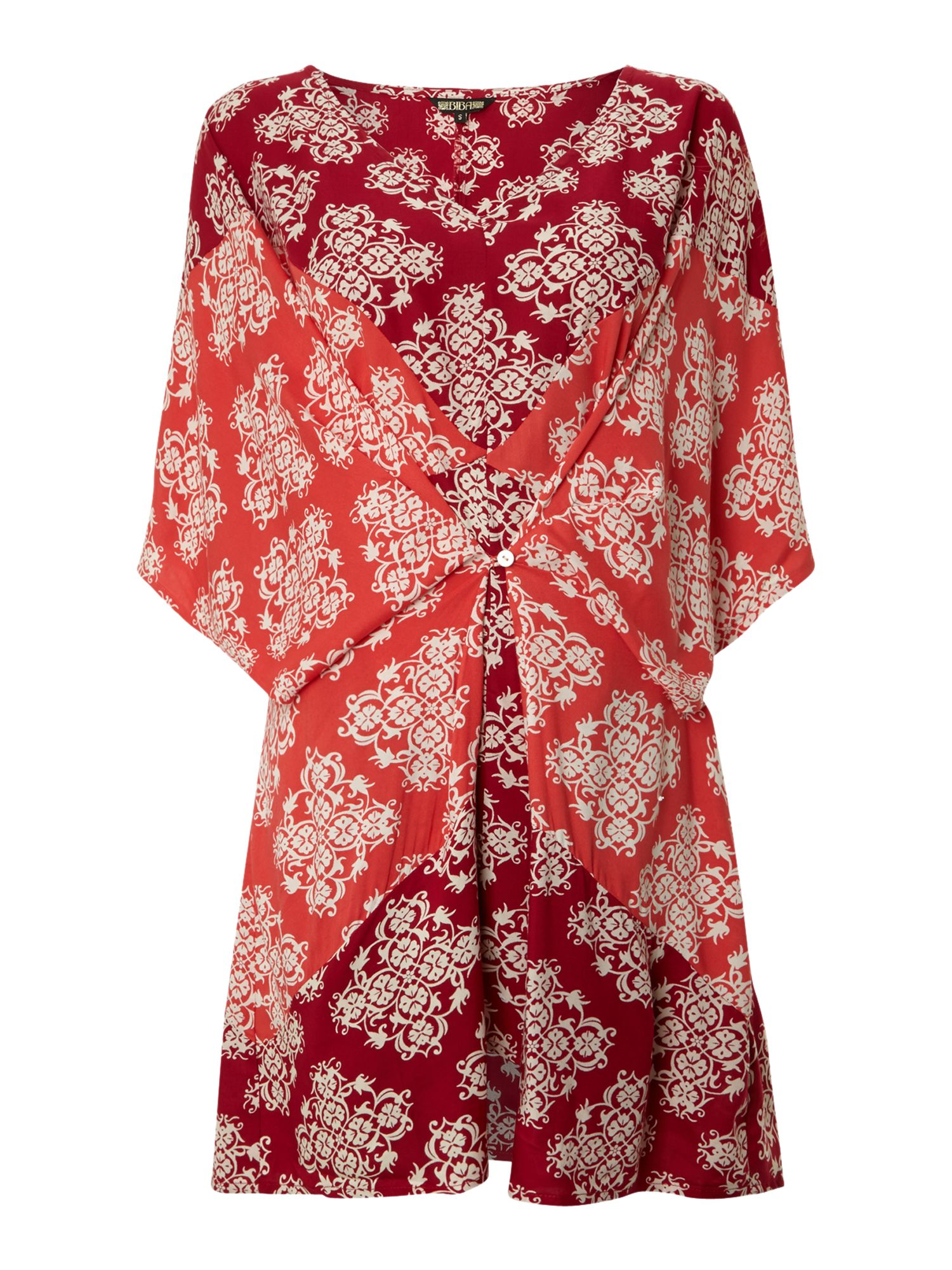 Paisley button beach cover up