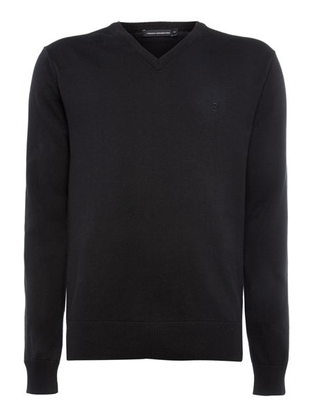French Connection Auderly cotton v neck  jumper