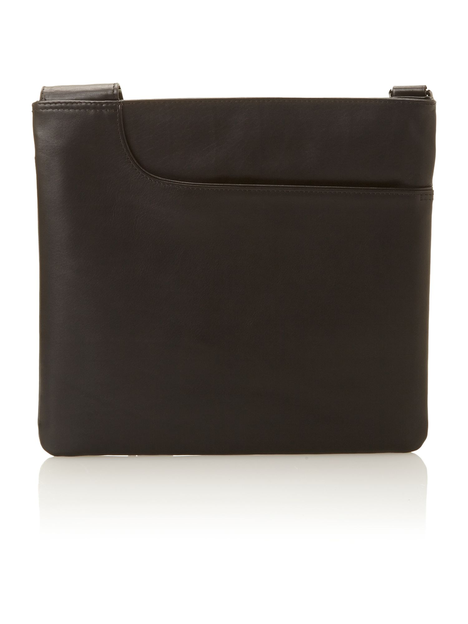 Large black cross body pocket bag