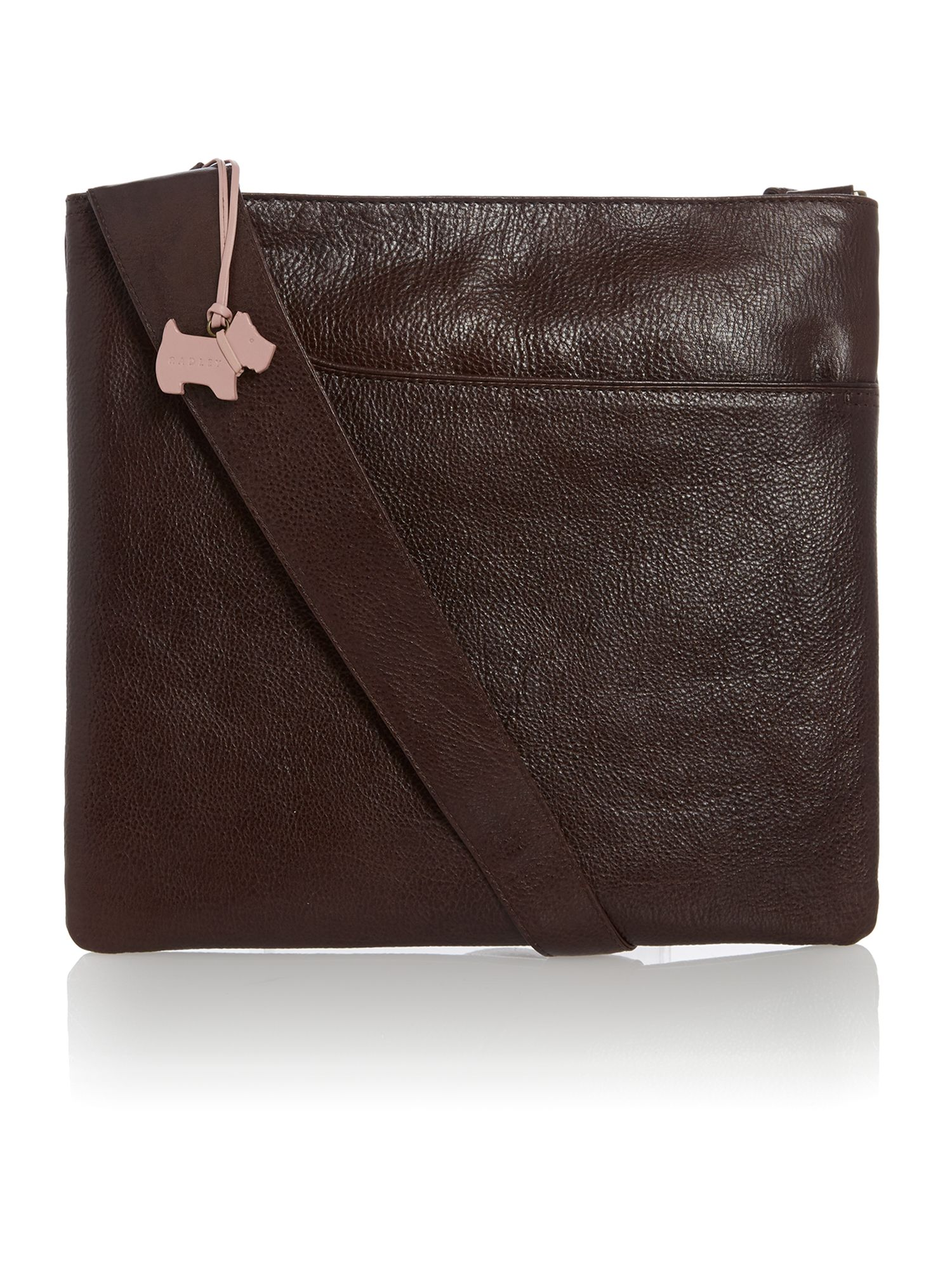 Large brown cross body pocket bag