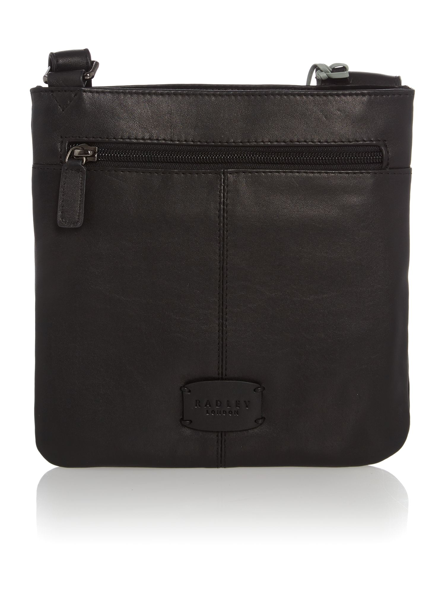 Medium black cross body pocket bag