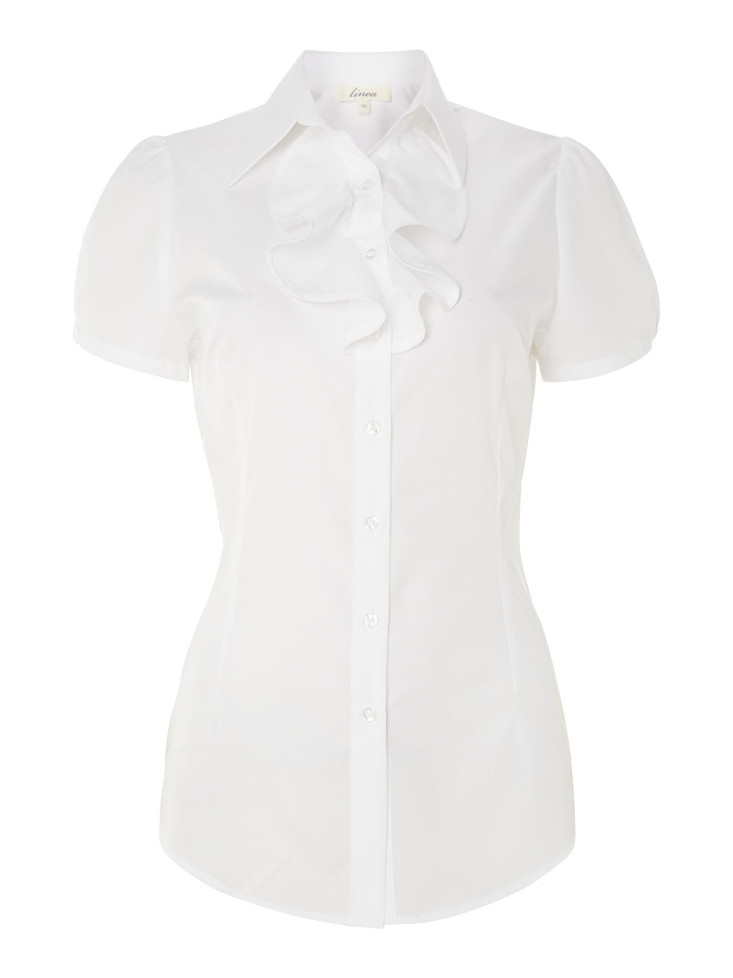 Slim fit frill detail work shirt