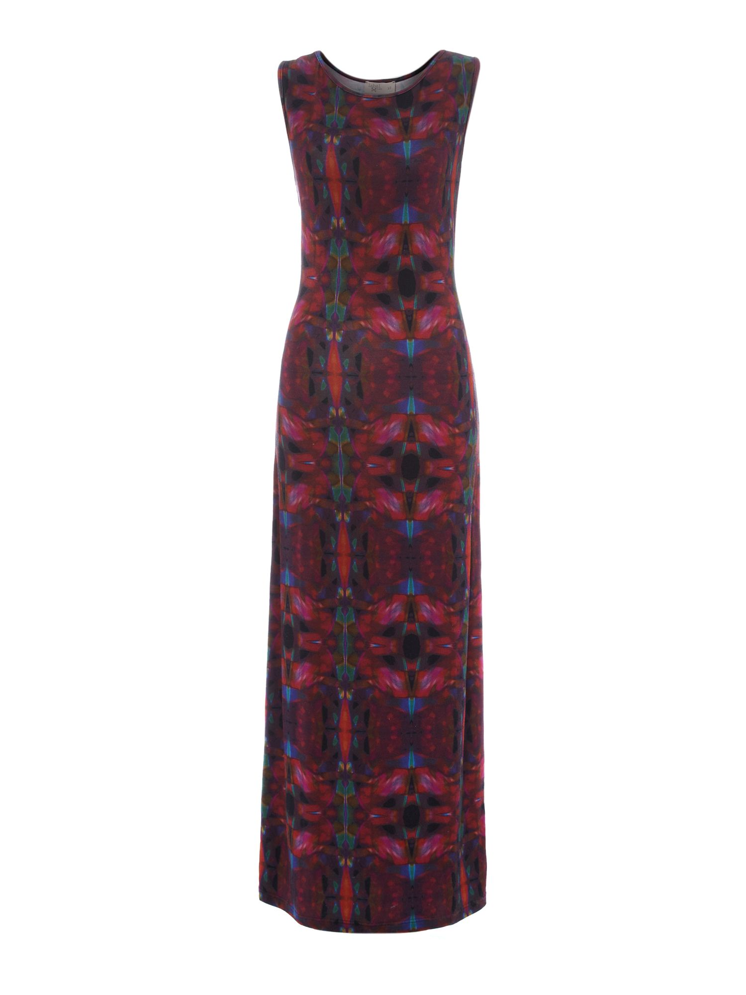 Kaleidoscope digital print maxi