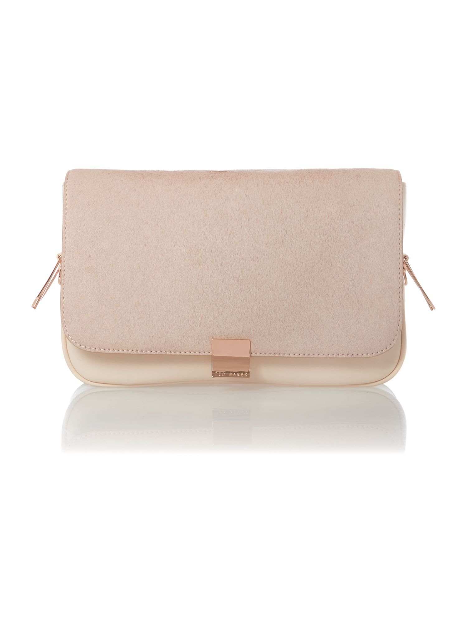 Pink small pony skin cross body bag