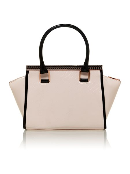 Ted Baker Medium nude quilt tote bag