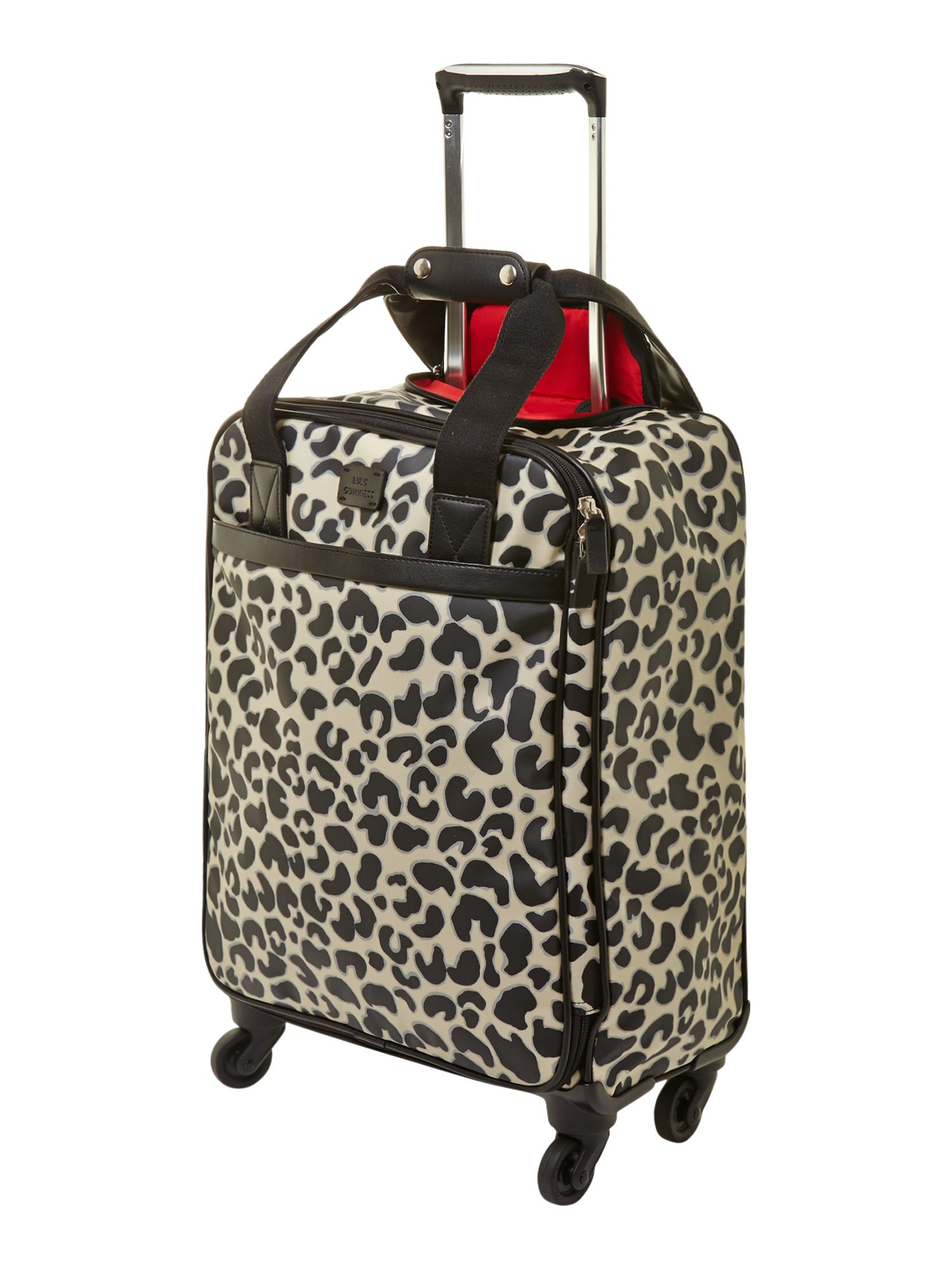Leopard print upright trolley case 55cm