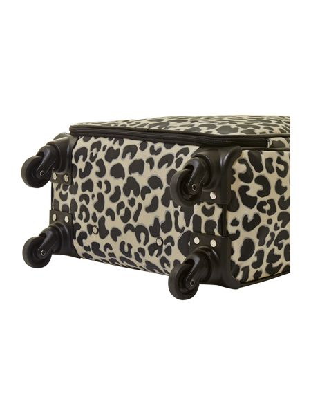 Lulu Guinness Leopard print upright trolley case 55cm