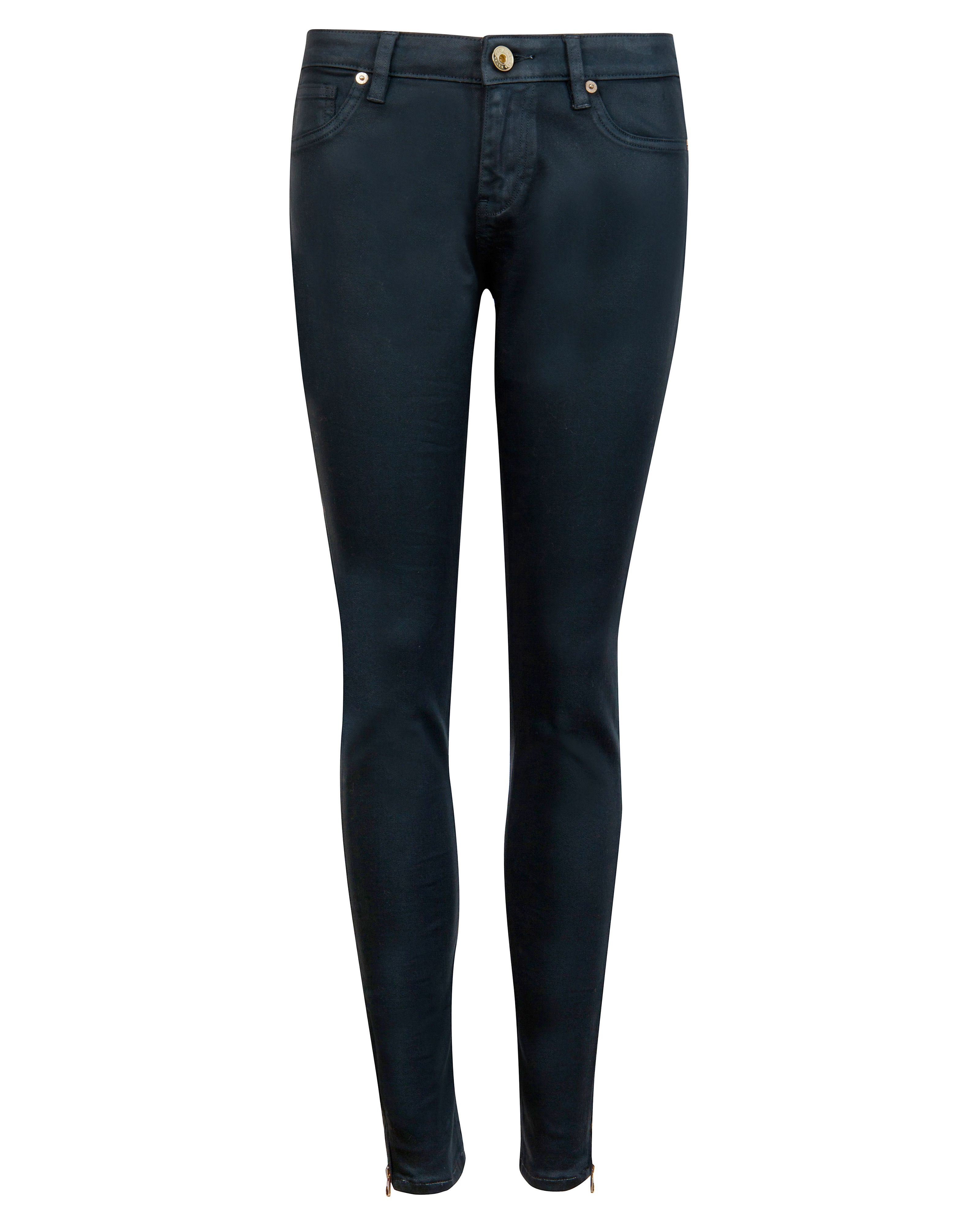 Annna wax finish skinny denim