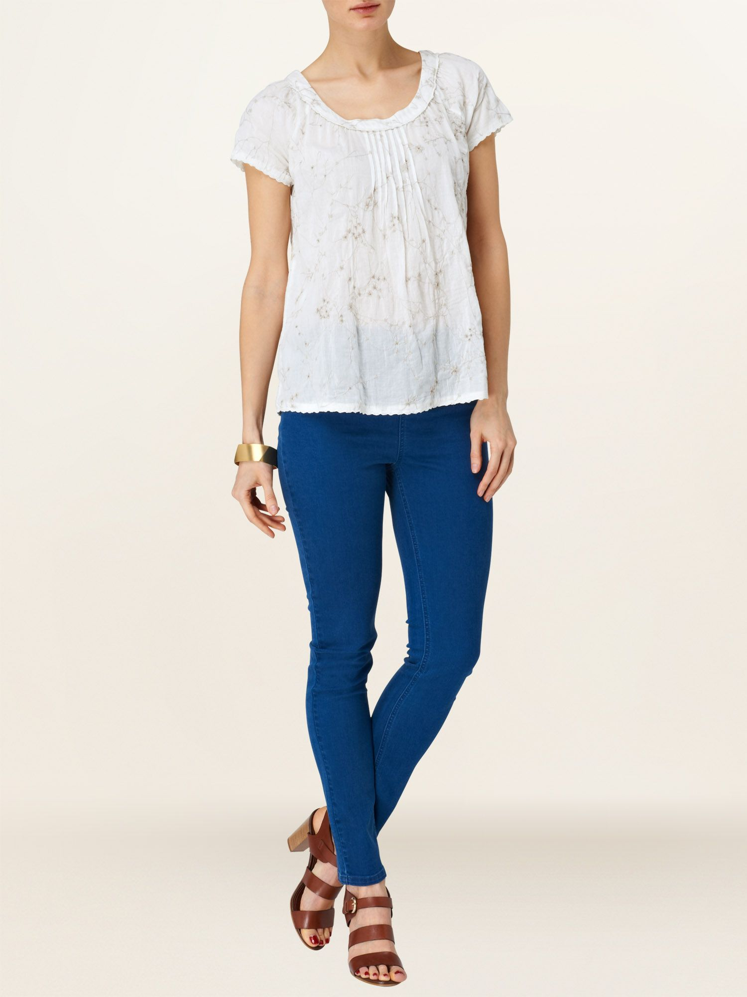 Enid embroidered blouse