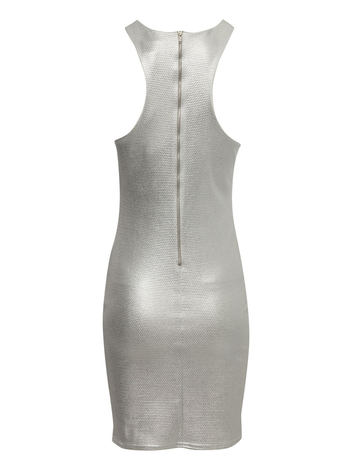 Metallic cut out dress