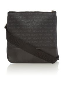Armani Jeans All over logo small cross body bag