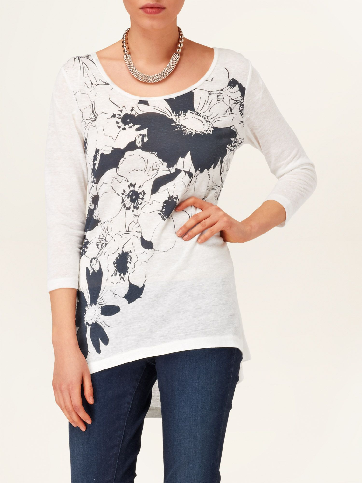 Agnella placement print top