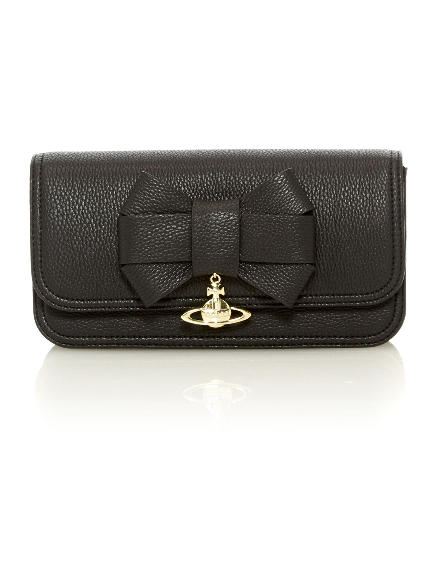 Bow black mini cross body bag
