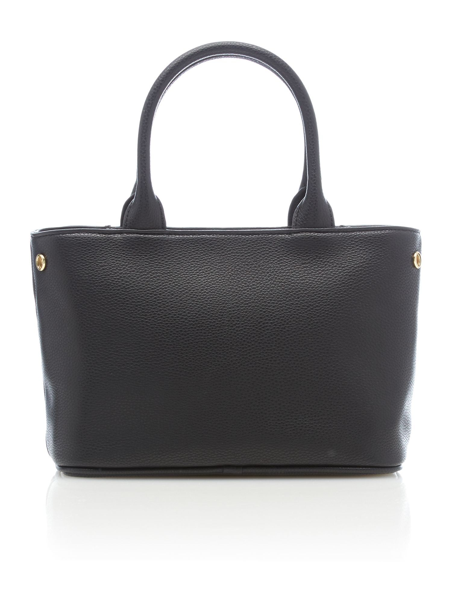 Bow black small tote bag
