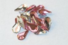 Graham & Brown Teardrop pink & clear wall art