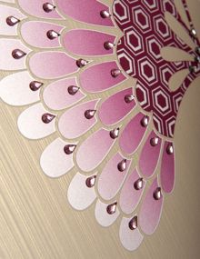 Teardrop pink & clear wall art