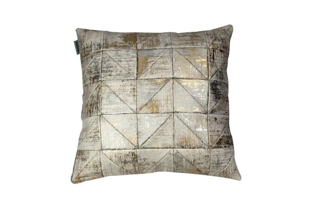 Leblon hand foiled patchwork pillow 45x45