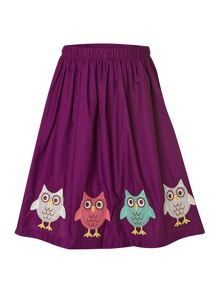 Girl`s novelty gathered woven skort