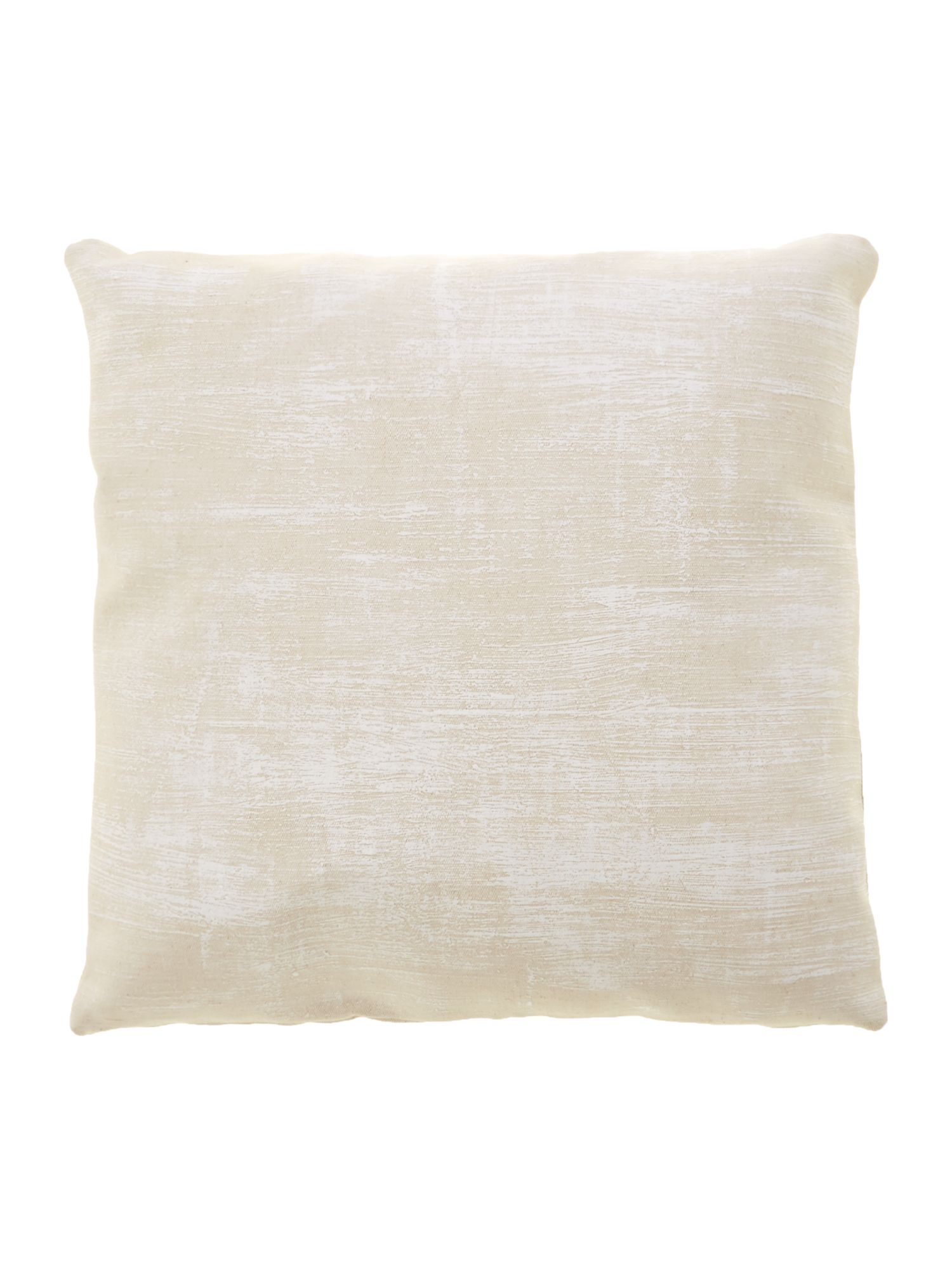 Leblon foiled organic jute pillow in white 45x45