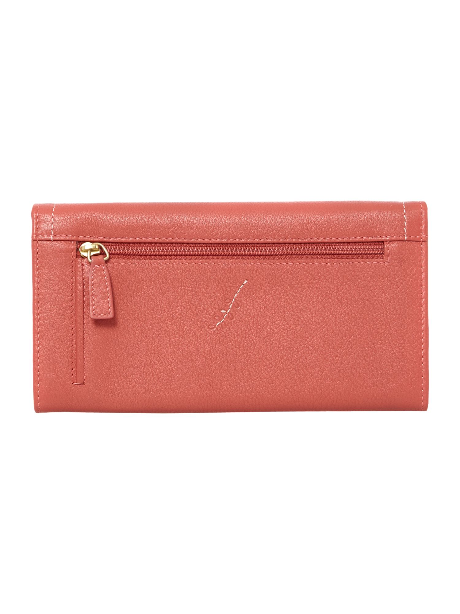 Little laurels coral flap over purse