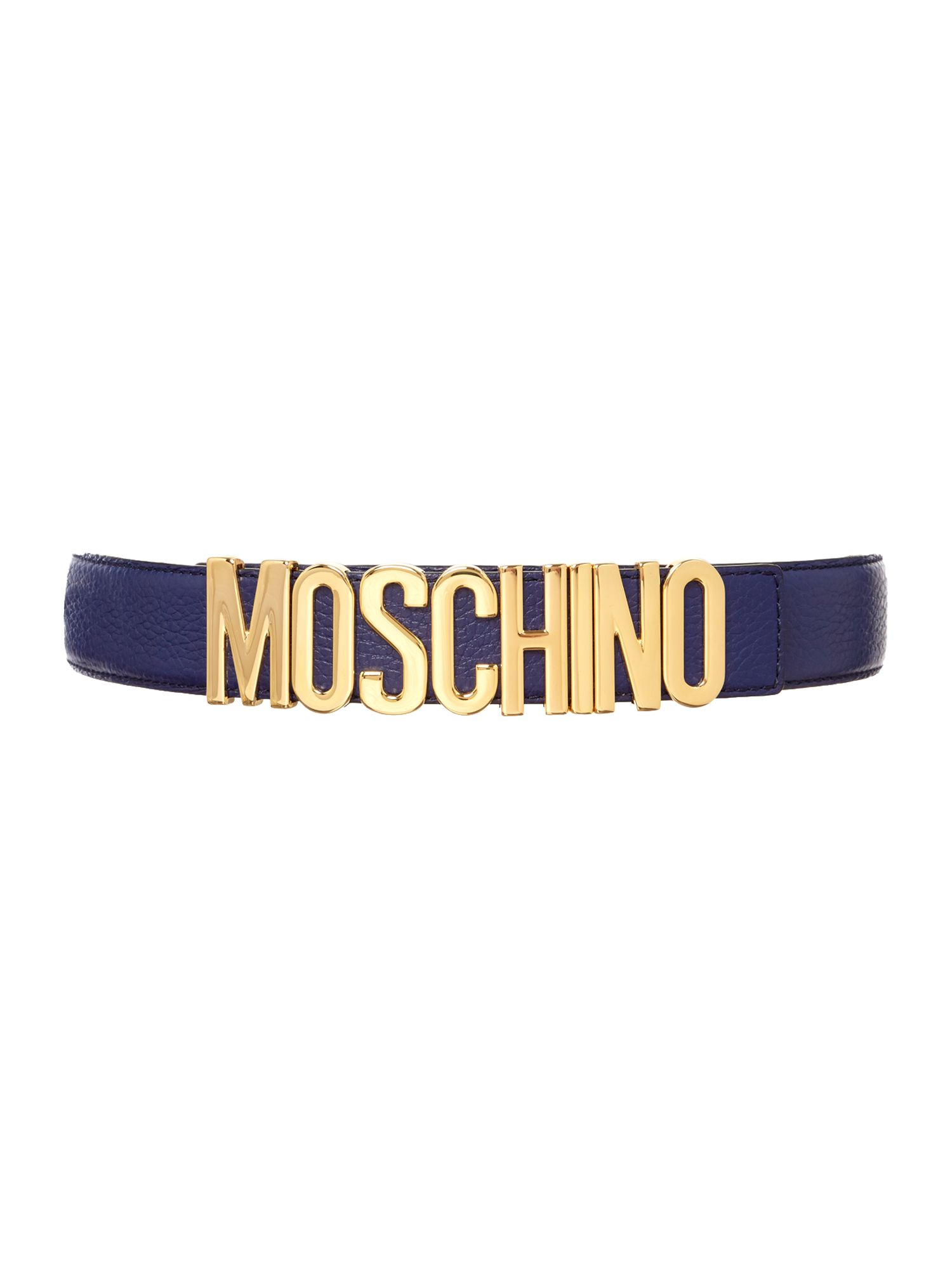 Blue logo belt