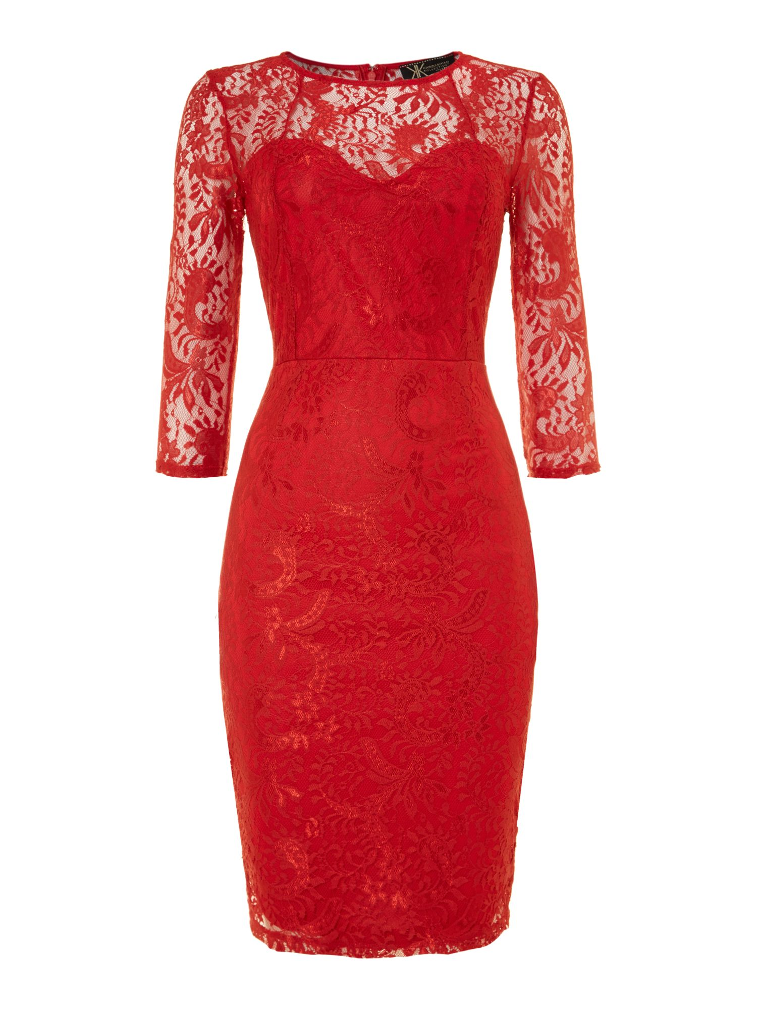 Kardashian all over lace midi dress