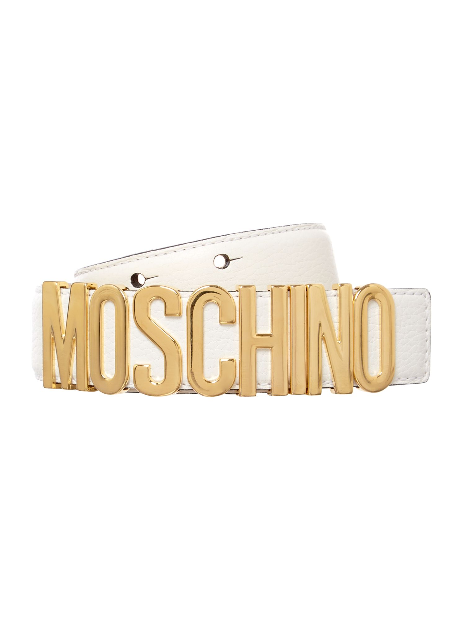White logo belt