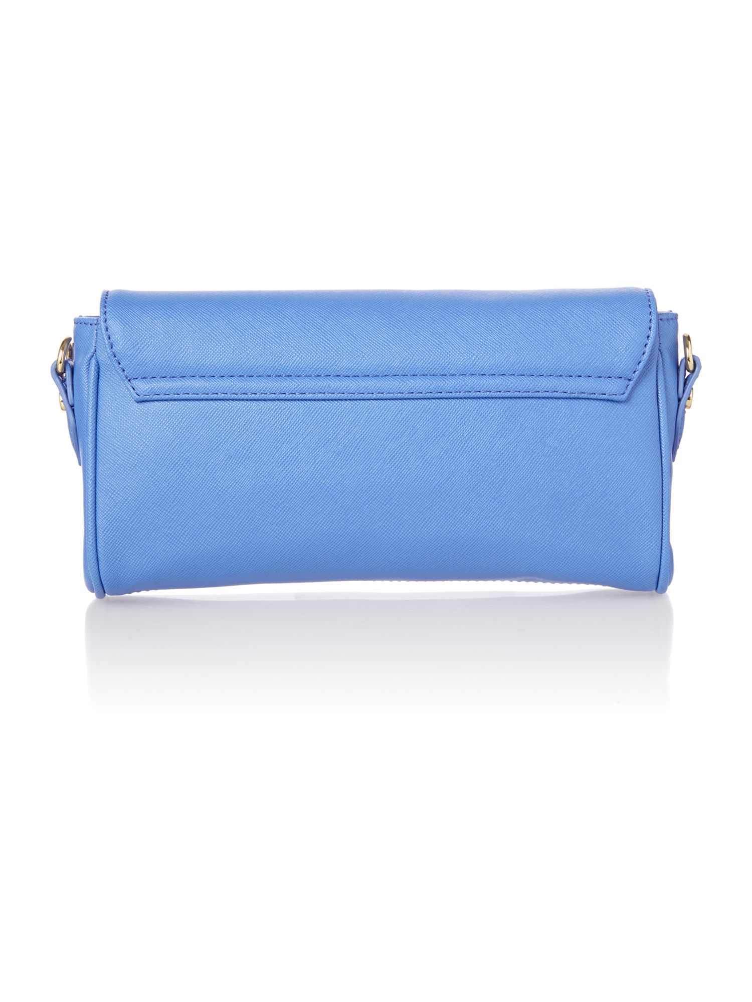 Divina small blue flapover cross body bag