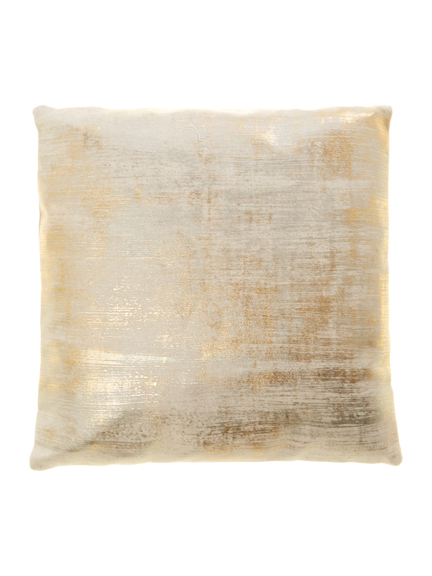 Leblon 45x45 cushion in gold and pewter
