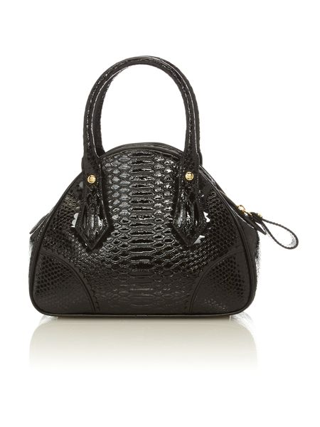 Vivienne Westwood Frilly Snake small black dome bag