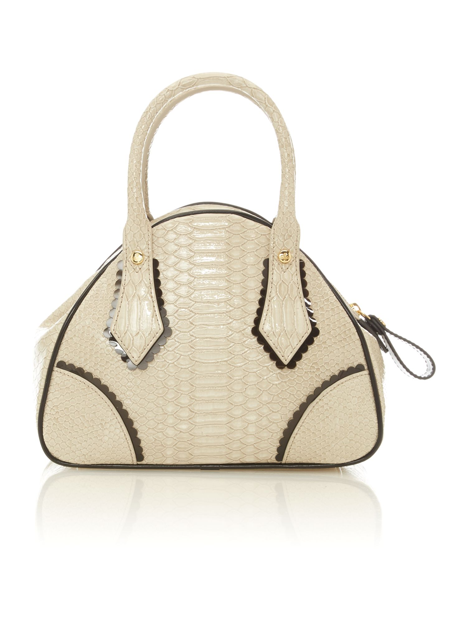 Frilly Snake small neutral dome bag