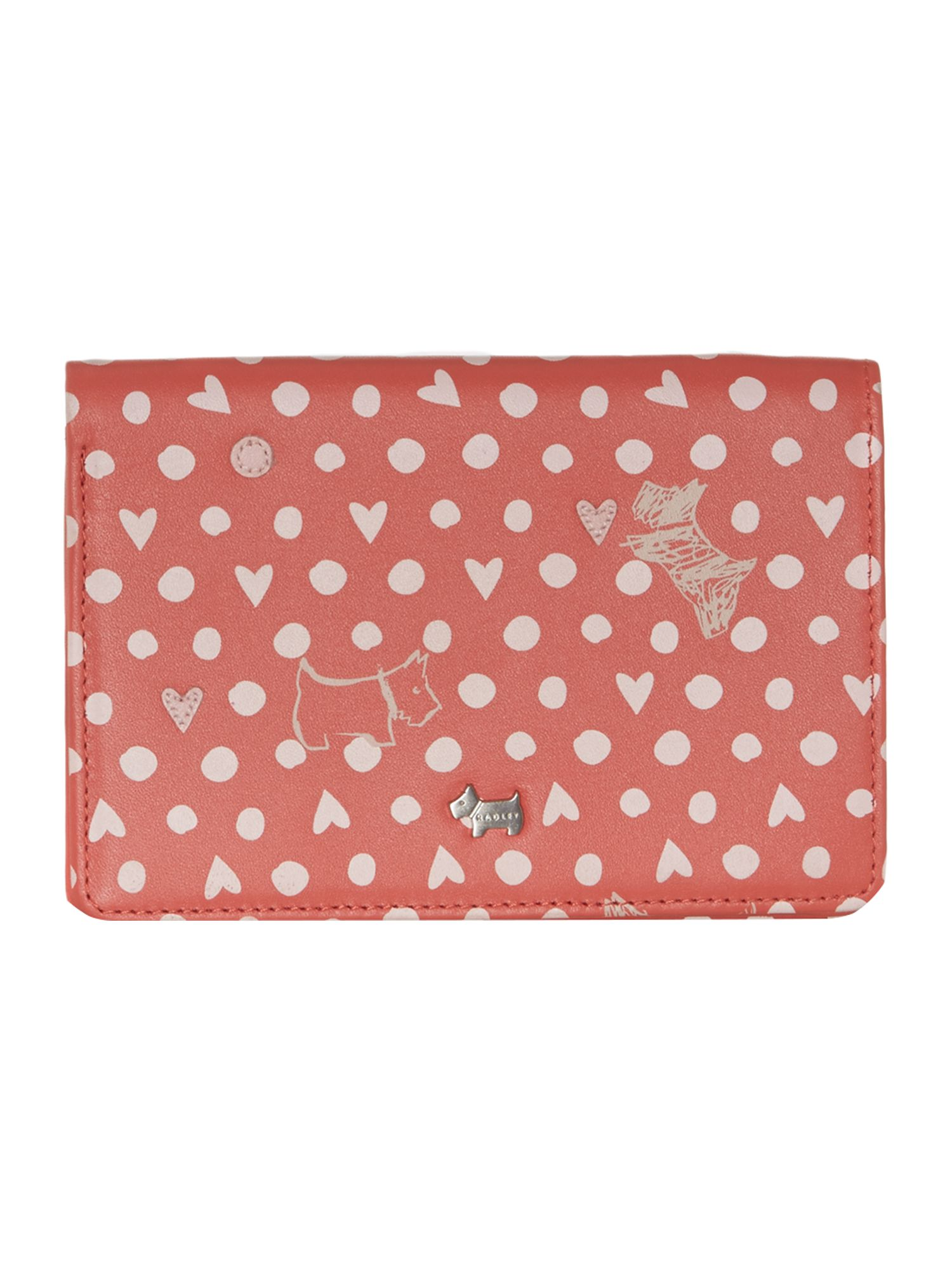 Dog n spot coral ziparound purse