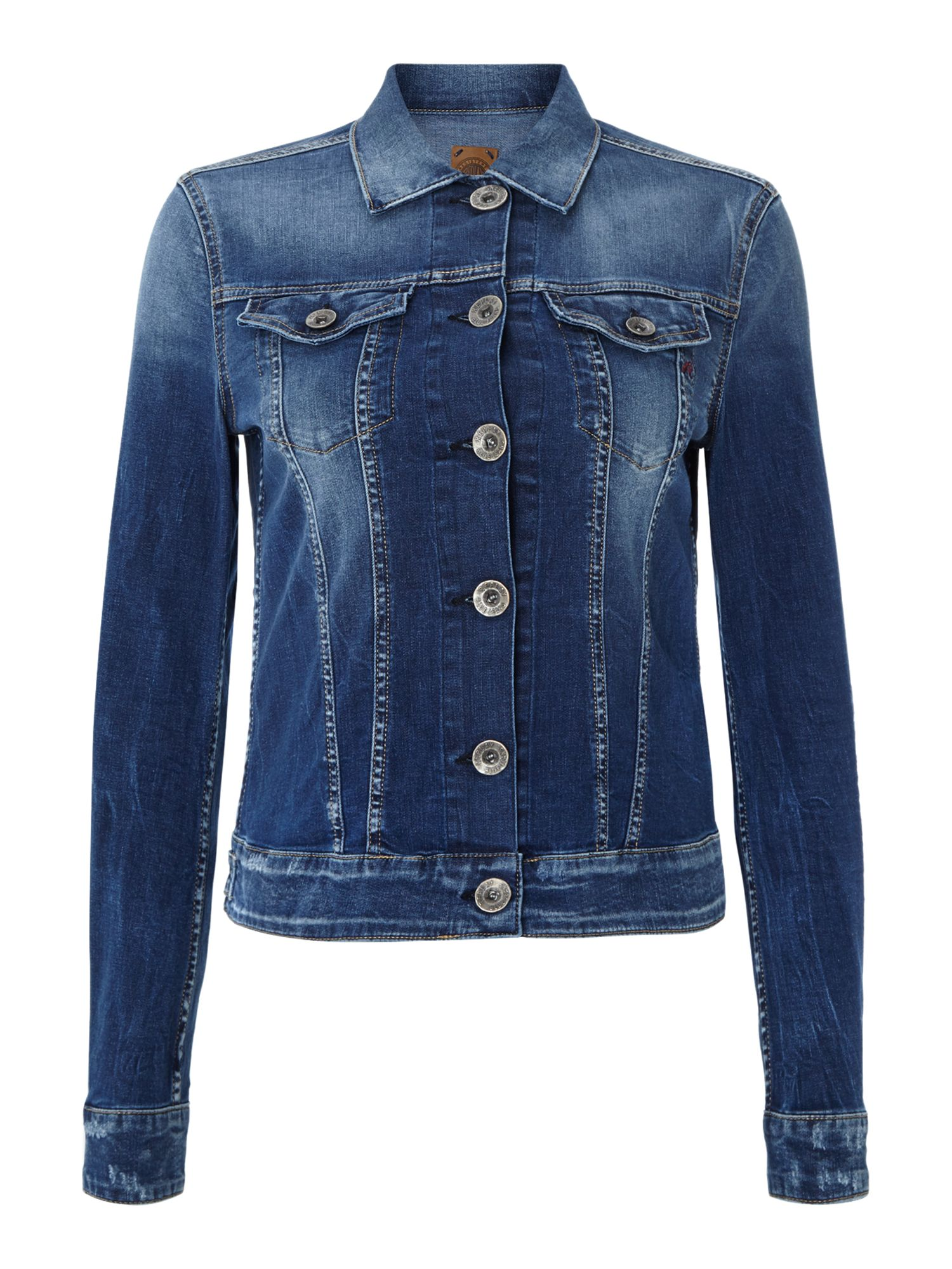 Light denim jacket with buttons