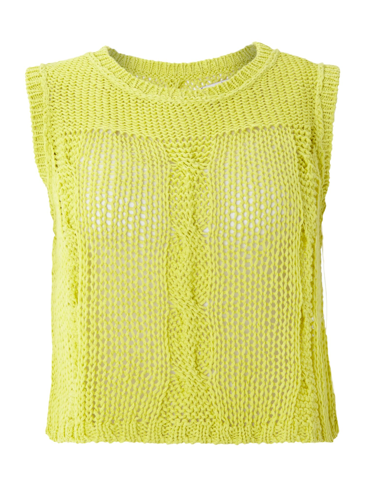 Round neck opened on back mesh