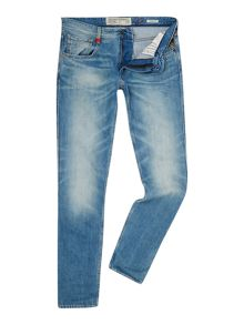 Anbass Light Wash Slim Fit Jeans