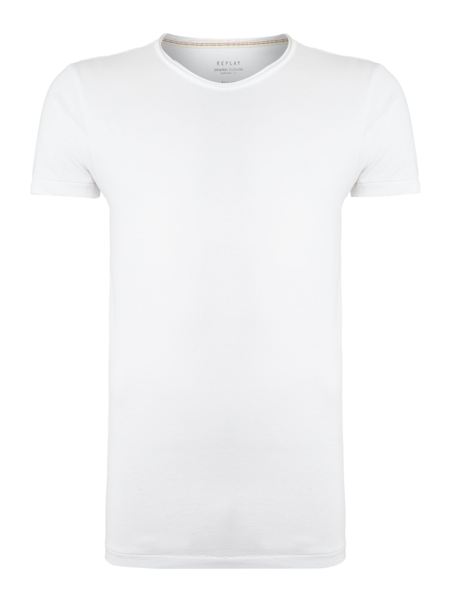 Round collar regular fit jersey t-shirt