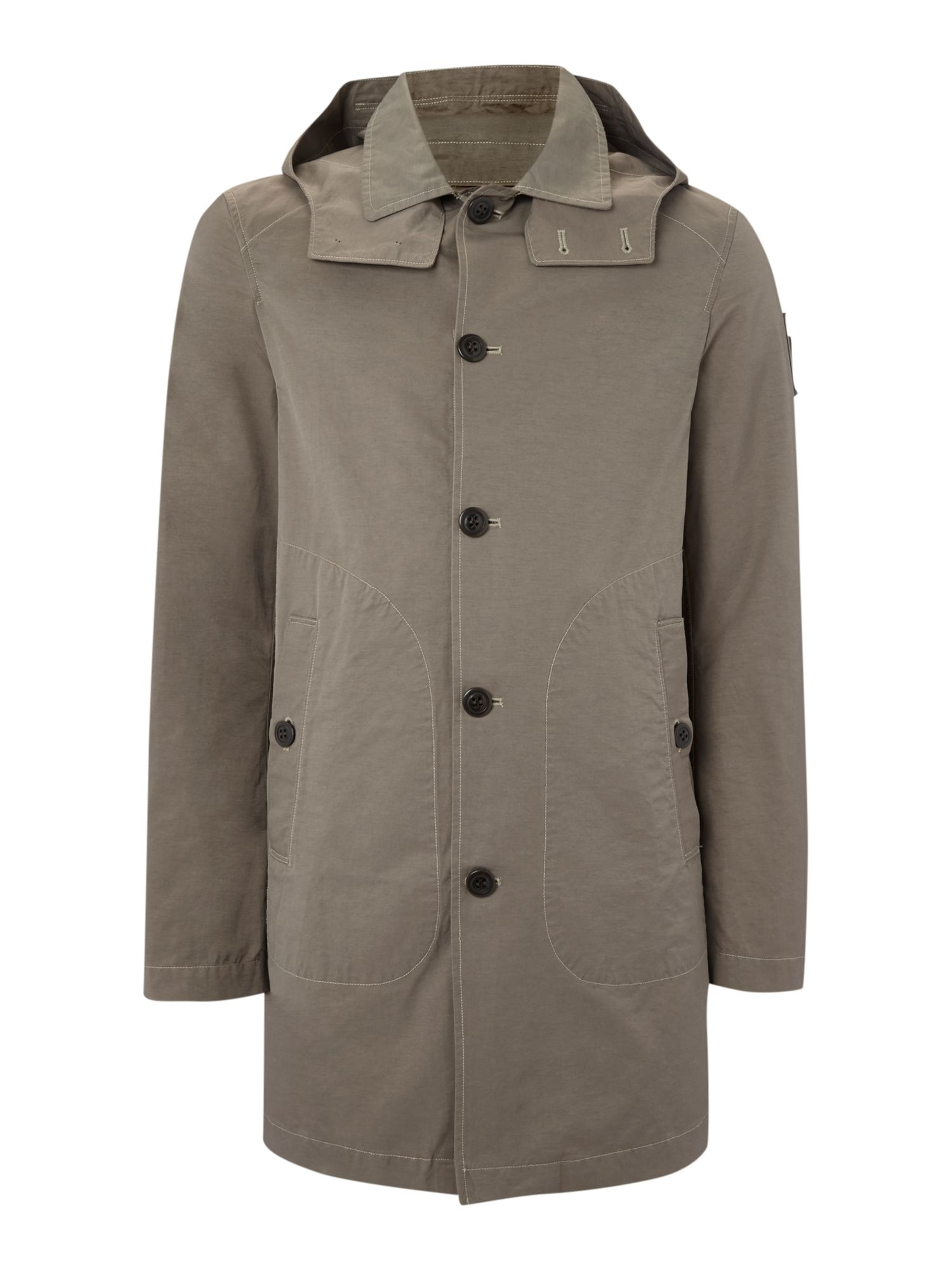 Cotton/nylon carcoat jacket
