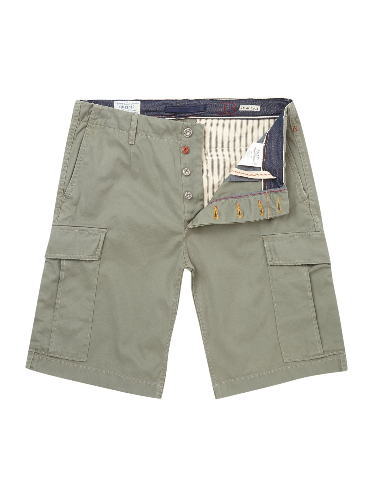 Gabardine 2 pocket regular fit cargo short